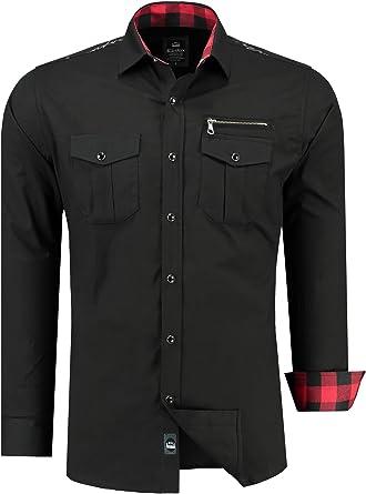Black Rock Camisa Casual - Manga Larga - Para Hombre Negro Negro: Amazon.es: Ropa y accesorios