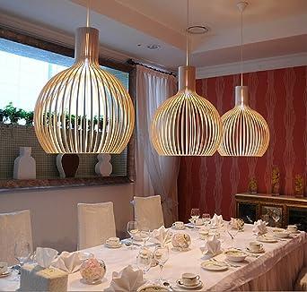 Wenseny Vogelkäfig Kronleuchter Amerikanischer Stil Bar Esszimmer Cafe  Beleuchtung Yellow(Groß)