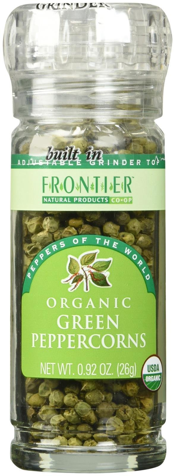 Frontier Organic Peppercorn Spice - Green - 0.92 Ounces