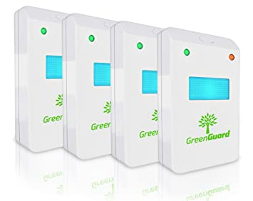 GreenGuard Ultrasonic Pest Control (4 Pack)u2013Indoor Repellant For Mice,  Mosquitos
