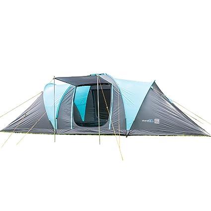 skandika Hammerfest 6 Protect - tienda campaña familiar - cúpula - mosquiteras - 2 dormitorios -