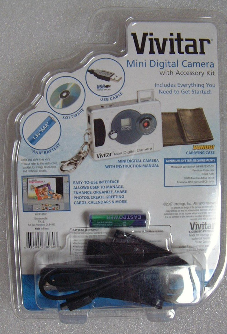 Vivitar Mini Digital Camera with Accessory Kit