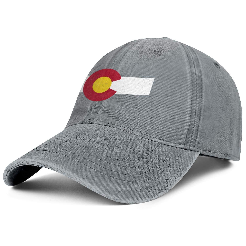 Fit Retro Mens Jean Baseball Caps Colorado Flag Marijuana Leaf Flat Hat for Men Fit Jeans Denim Dad Hat for Women