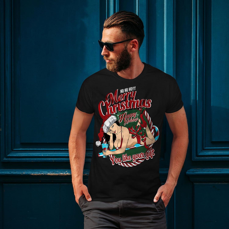 39453aeac6cbab Wellcoda Sexy Santa Girl Mens T-Shirt