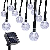 Amazon Price History for:Qedertek Globe Solar String Lights, 19.7ft 30 LED Fairy Lights, Outdoor Solar Lights for Home, Garden, Patio, Lawn, Party and Holiday Decoration (White)