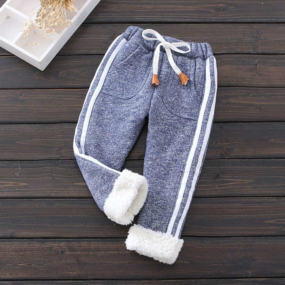 KIDS BABY GIRLS WINTER WARM LEGGINGS FULL LENGTH BOTTOMS TROUSERS PANTS STRICT