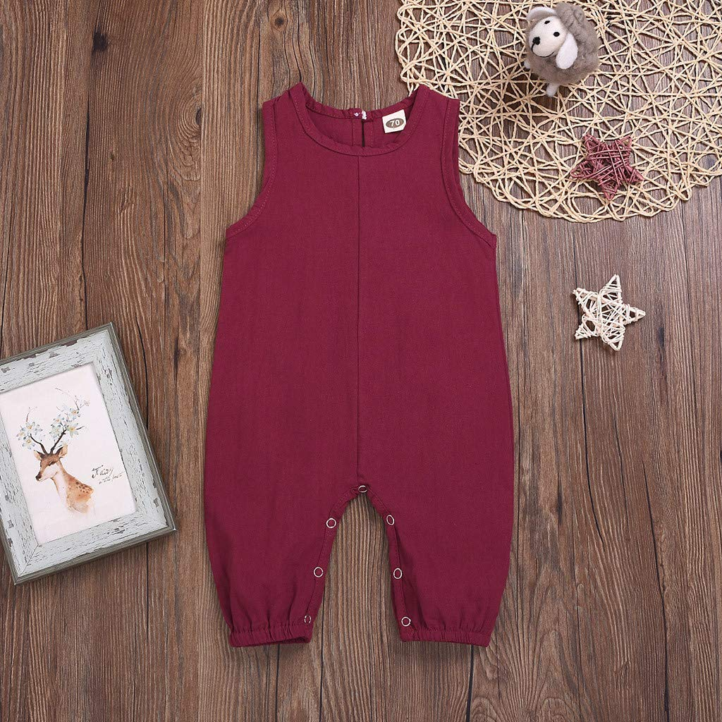 TM Y56 Newborn Infant Baby Boys Girls Summer Romper Jumpsuit Playsuit Outfits Clothes 6M-3Y