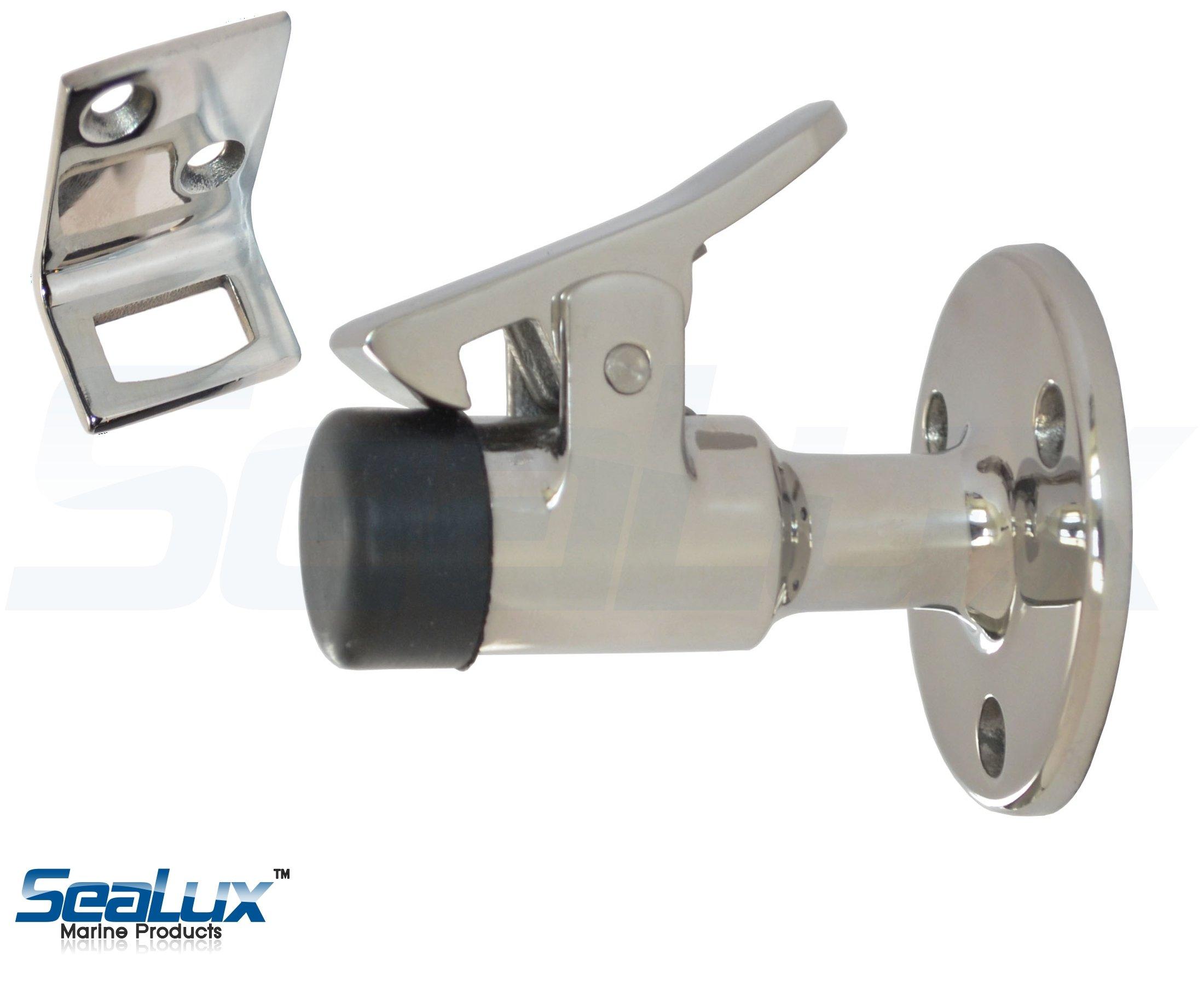 SeaLux Marine 316 Stainless Steel Door Stop-N-Catch
