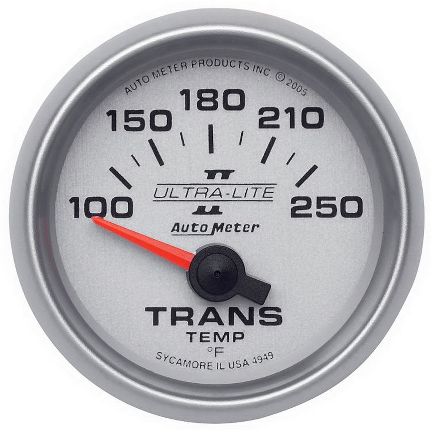 Auto Meter 4949 Ultra-Lite II Electric Transmission Temperature Gauge by Auto Meter