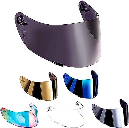 Visera para casco compatible con AGV K3 Sv K1 K5 K5s S4-Sv Horizon Stealth-Sv Skyline Strada Numo Aftermarket Oro Azul Espejo Arcobaleno Transparente Fume GT-2 transparente
