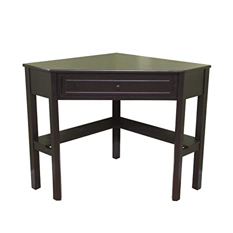 the best attitude 6e8a9 f8b22 Target Marketing Systems Wood Corner Desk with One Drawer and One Storage  Shelf, Black Finish
