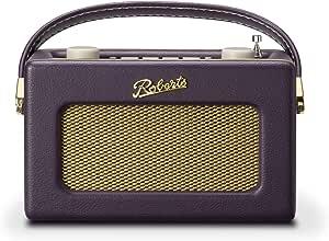 Roberts Revival Uno Retro Portable/Compact DAB/DAB+/FM Digital Radio with Alarm Clock Radio, Mulberry Purple