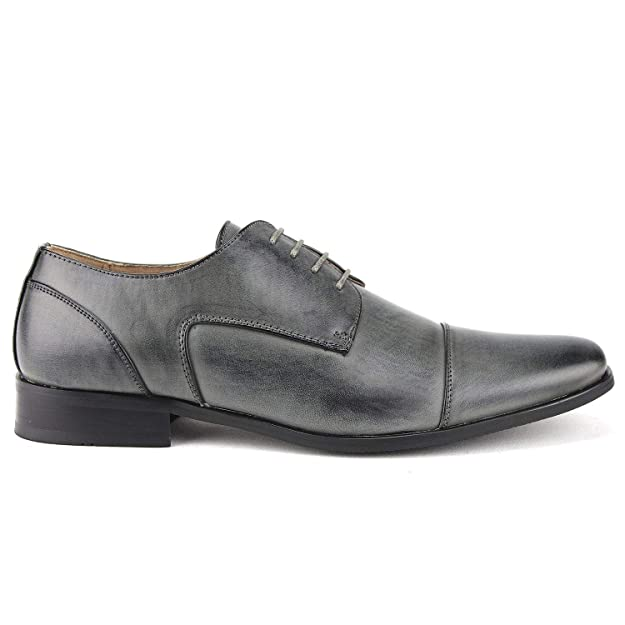 Amazon.com | Mens Classic Leather Lined Derby Cap Toe Oxfords Dress Shoes | Oxfords