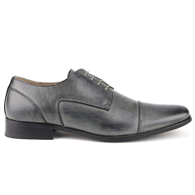 Amazon.com   Mens Classic Leather Lined Derby Cap Toe Oxfords Dress Shoes   Oxfords
