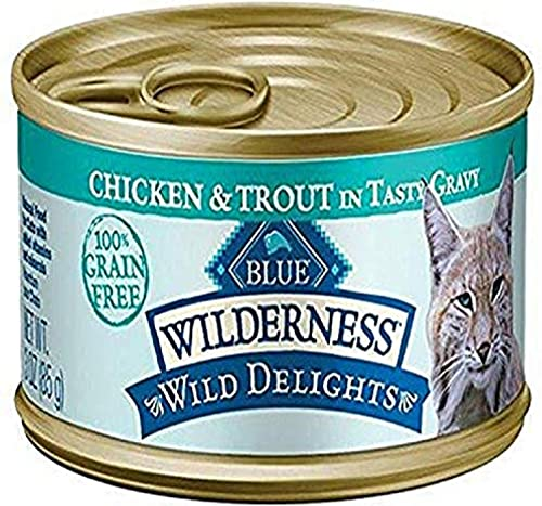 Blue Buffalo Wilderness Wild Delights Chicken Trout Recipe – 24 X 3Oz