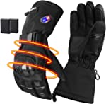 GMAYOO Heated Gloves for Men Women Electric Rechargeable Battery Gloves for