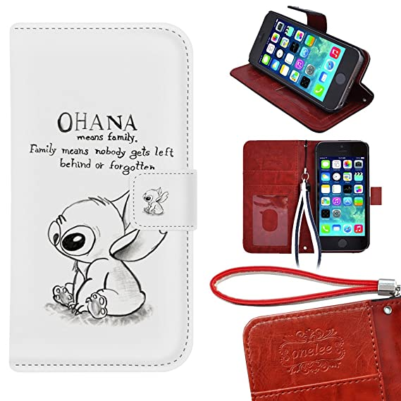 f76412f6867 Image Unavailable. Image not available for. Color: iPhone 5s Wallet Case,  Onelee - Disney's Lilo & Stitch ...