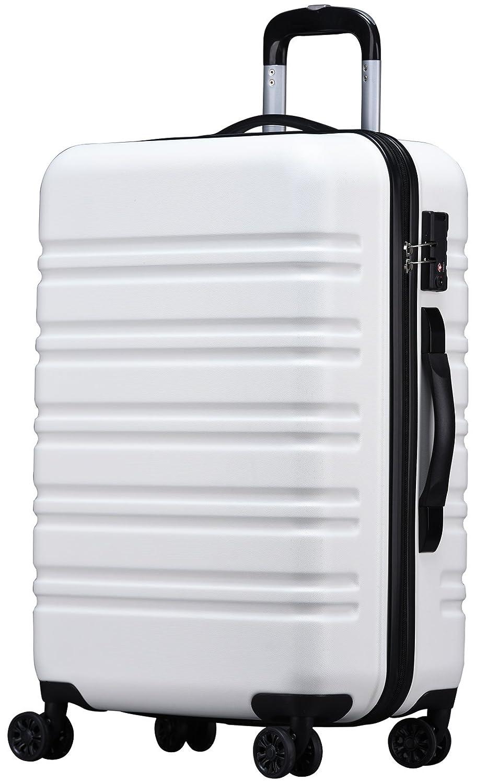 [luckypanda(ラッキーパンダ)] TSAロック搭載 スーツケース TY8098 機内持ち込み可 B0756VNK15 L ホワイト ホワイト L