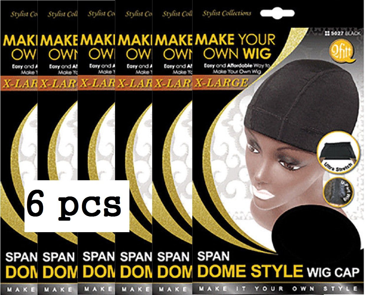 QFitt Dome Style Wig Cap X-LARGE 5027 (3pcs) M&M Headgear Inc.