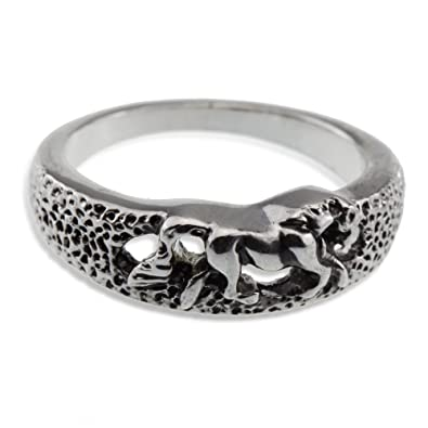 Amazon Com Silver Horse Rodeo Race Show Ring Jewelry Unisex For