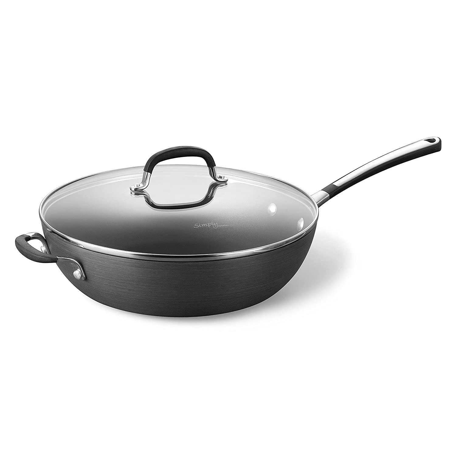 "Simply Calphalon Nonstick 12"" Jumbo Deep Fry Pan"
