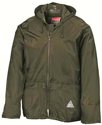 6a815f7468ba5d ADULTS FULLY WATERPROOF JACKET AND TROUSER SET - 5 COLOURS (SMALL, OLIVE  GREEN)
