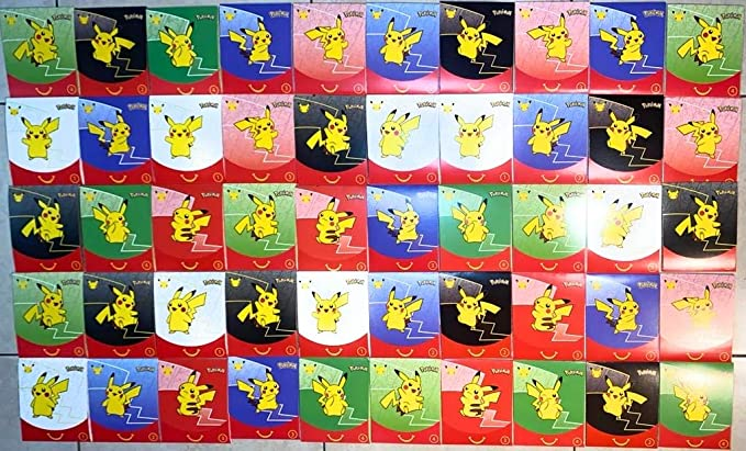 2021 Pokemon McDonalds 25th Anniversary Cards All 50 HOLO /&Non Complete your Set