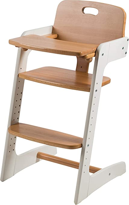 Roba Kids 7545BC Evolutionary High Chair in Solid Wood, Two