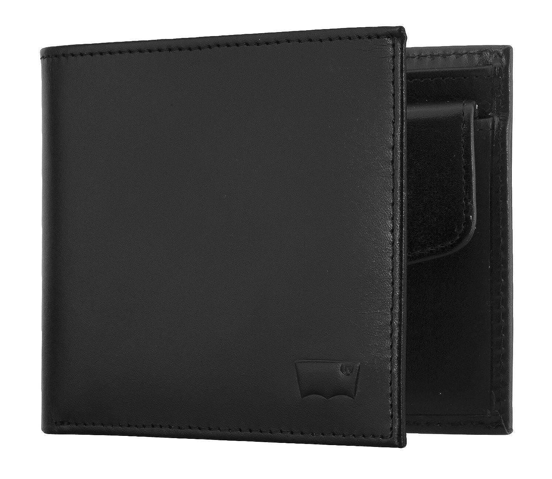 Plegable incrustaciones de cuero del monedero de los hombres de Levi (12x10x2cm An) - Marrón, Negro: Colour: Brown: Amazon.es: Zapatos y complementos