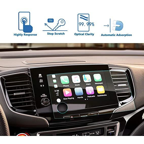 2019 Pilot 8-Inch Car Navigation Screen Protector Tempered Glass Audio  Infotainment Display Center Touch Protective Film Scratch-Resistant, LFOTPP