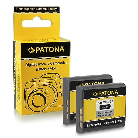 2x Batería NP-BG1 para Sony CyberShot DSC-H3 | DSC-H7 | DSC-H9 |