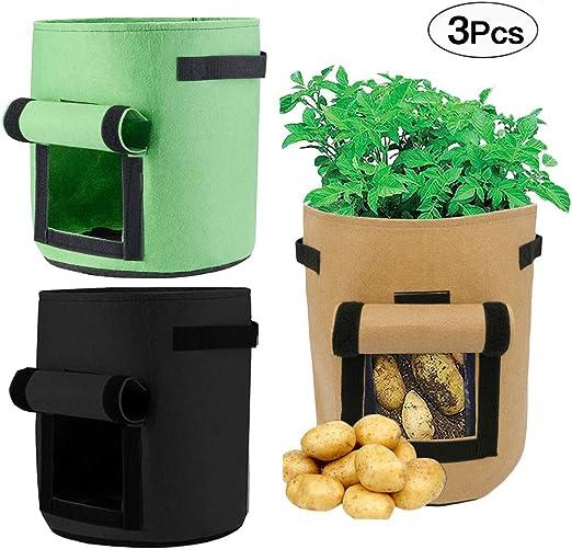 Mengger Bolsas de Cultivo de Papa Patatas Plantas Verduras jardín ...