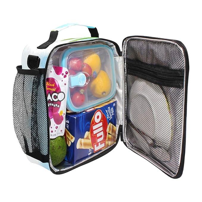 JSTEL Bolsa de almuerzo para playa y tabla de surf antigua con bolsa de mano de felicitación, contenedor de alimentos Gourmet Bento, bolsa térmica para ...