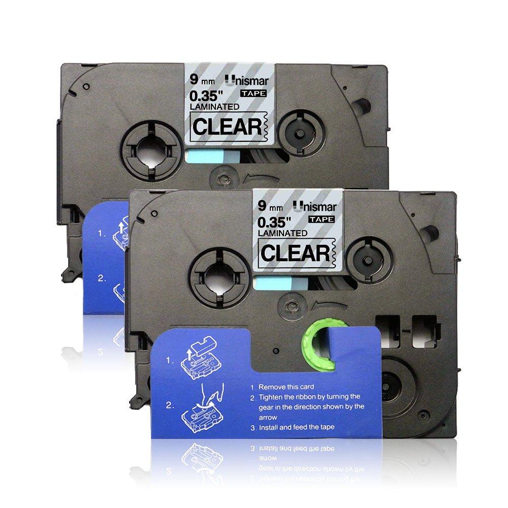 2 Pack Compatible TZe-335 TZe335 TZ-335 TZ335 Laminated Tape for Brother P-Touch Cube PT-H110 PT-H100 PT-D200 PT-D210 PT-1290 PT-D400 PT-D600 Label Maker White on Black 12mm x 8m (1/2 x 26.2ft) by Unismar Unismar Tech