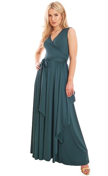 designer fashion fb2c5 687fb Elegante Signora Vestito lungo estate maxi vestito abito ...