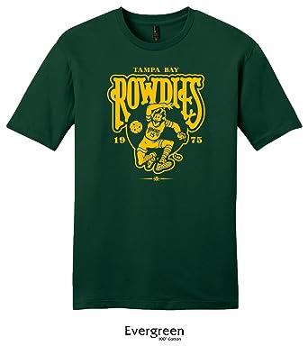 9b4d3e840ab Throwbackmax 1975 NASL Tampa Bay Rowdies Soccer Tee Shirt at Amazon Men's  Clothing store: