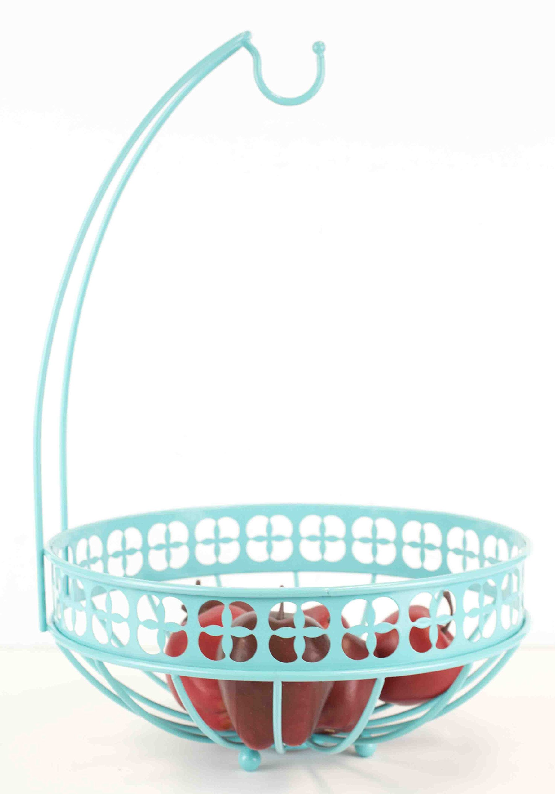 Home Basics Trinity Collection Pantryware Organization Set, Turquoise (Fruit Basket with Banana Tree)