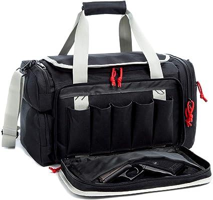 "X-LARGE Gun RANGE BAG Gray Grey Pistol Ammo Storage Luggage 30/"" Sports Duffle"