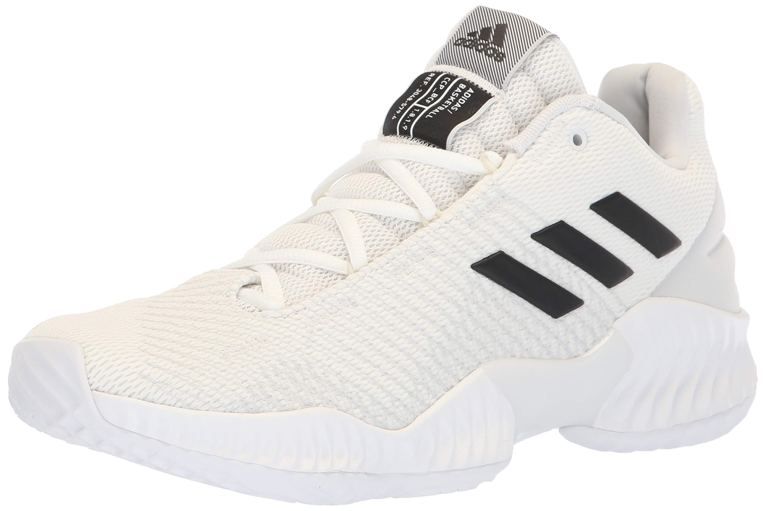 adidas Men's Pro Bounce 2018 Low Basketball Shoe, Black/Crystal White, 10.5 M US by adidas
