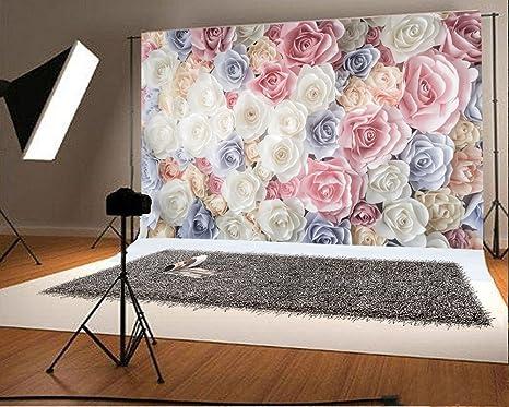 YongFoto 3x2m Vinilo Fondos Fotograficos Vistoso Flor Pared de Flores Floral de Moda Abstracto Fondos para Fotografia Fiesta Boda Adulto Retrato Cumplea/ños Personal Estudio Fotogr/áfico Accesorios