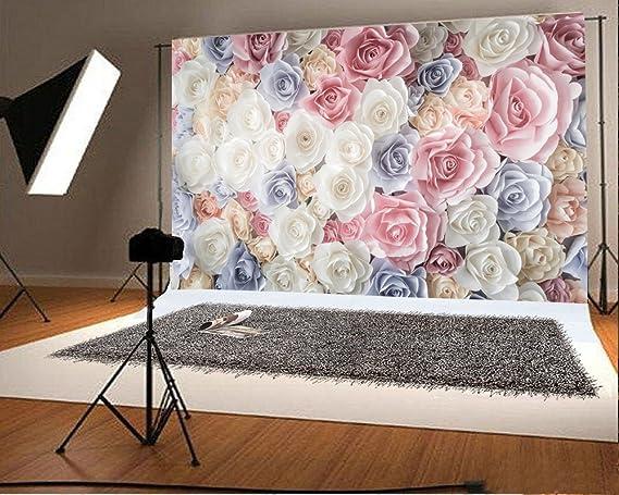 Yongfoto 3x2m Foto Hintergrund Bunt Blume Blumenwand Kamera