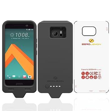 HTC 10 Carcasa de batería, ZeroLemon HTC 10 8500 mAh Cargador Funda con Gel de sílice Completo Borde protección (Compatible con Todos los HTC 10 ...