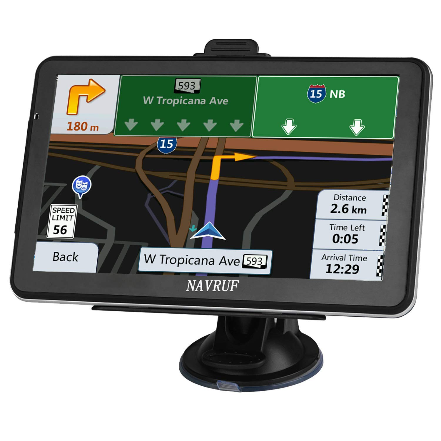 GPS Navigation for car, 7-inch HD 8GB Voice Prompt GPS Navigation System, Built-in North America map Contains (USA, Canada, Mexico Map) Lifetime Map Free Updates by NAVRUF