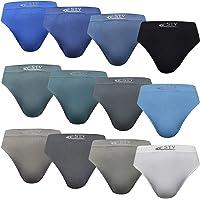 DOUBLE M, Calzoncillos Boxer o Slip Sin Costura Lycra, Bóxers Felxibles, Transpirables, Suaves y Cómodos Ideales para…