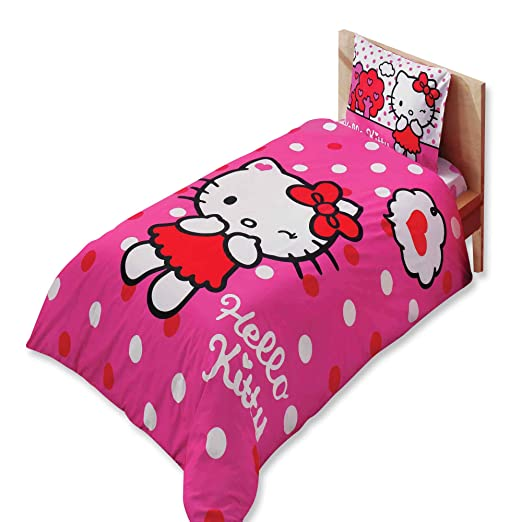 Original Juego de Funda de Edredón, diseño de Hello Kitty ...