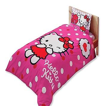 9a2ab4ce6f55f Amazon|ハローキティの子供用シングルサイズ3ピース100%コットンの寝具 ...
