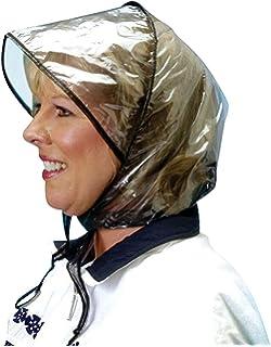 RainStopper Womens Clear Waterproof Rain Bonnet Hat (Pack of 3 ... 0a556e559b01
