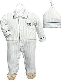Baby Dumpling Hush Little Baby Boy's Sleep and Play Gift Set, Blue/White, 0-3 Months