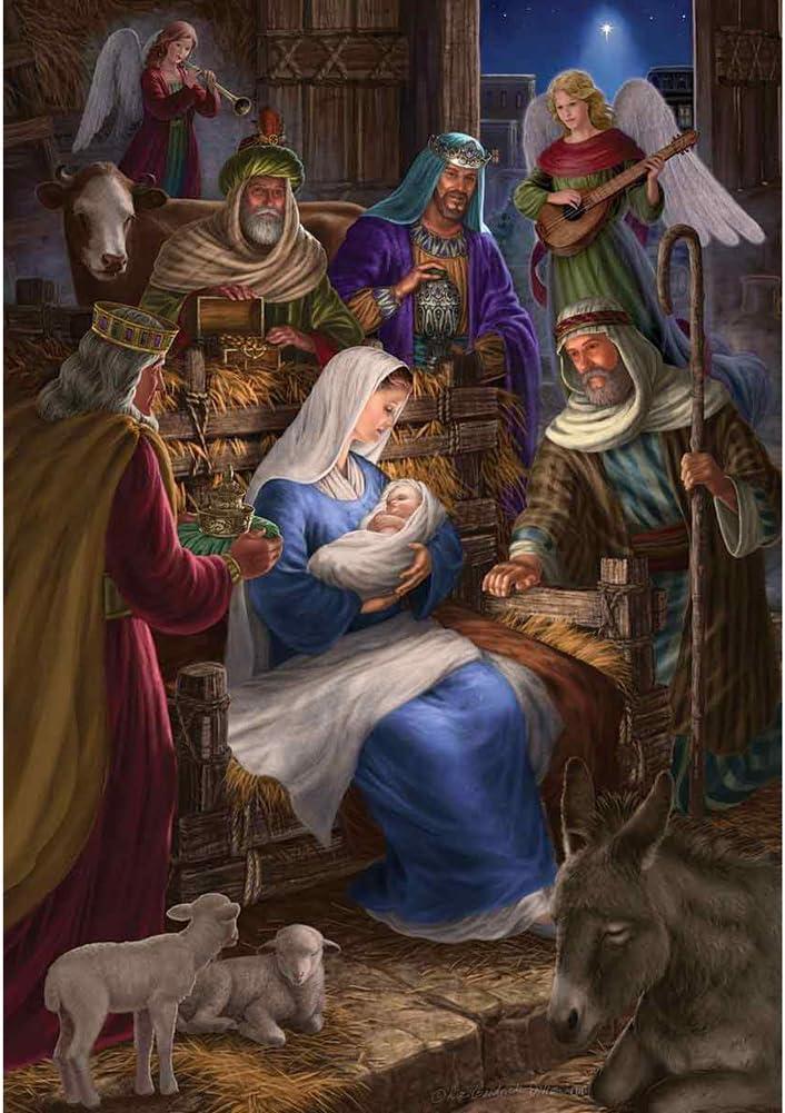 Holy Nativity - Christmas Garden Size 12 Inch x 18 Inch Decorative Flag