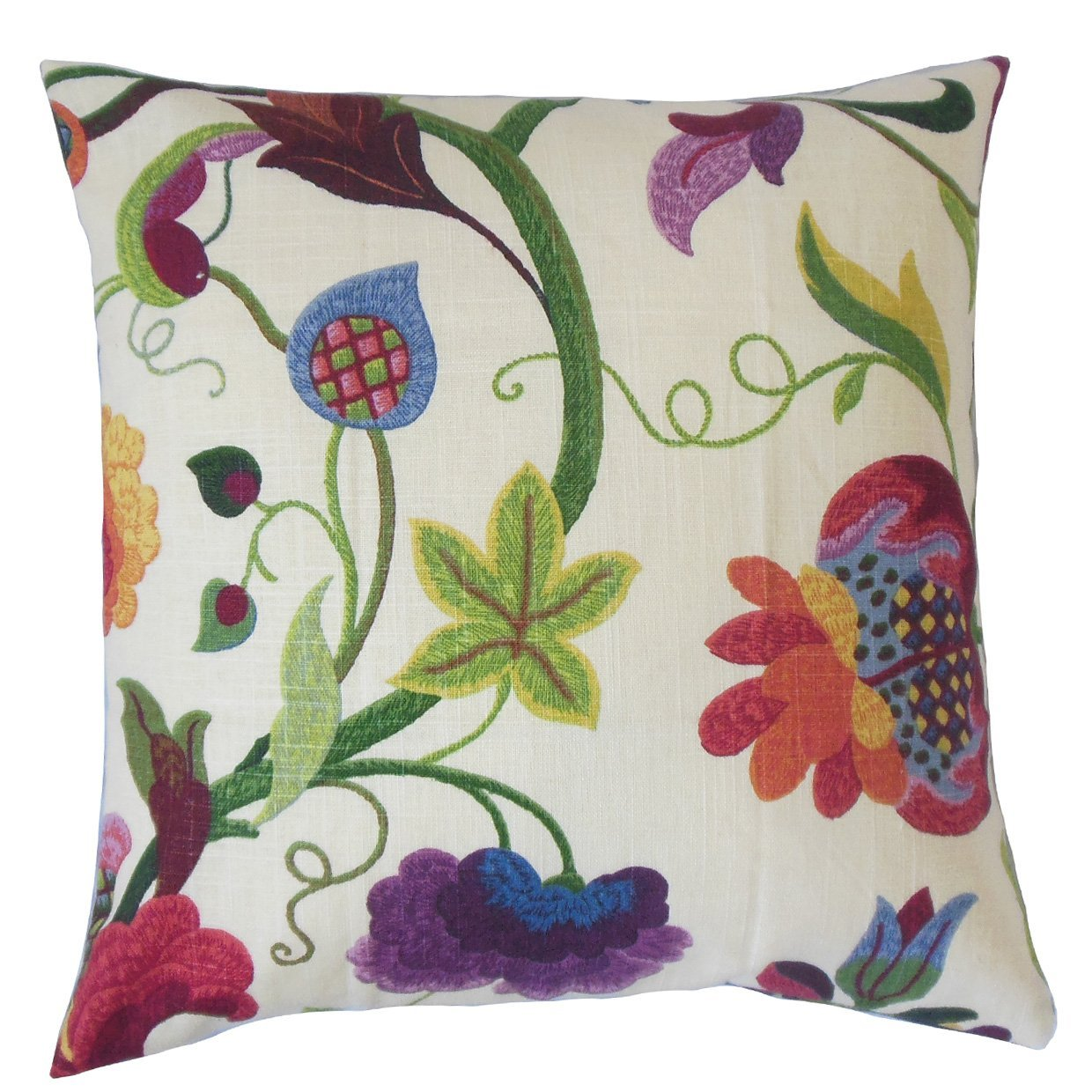 The Pillow Collection Hesperia Floral Bedding Sham Red Jade Queen/20\' x 30\'